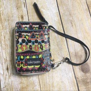 Sakroots phone/wristlet wallet.